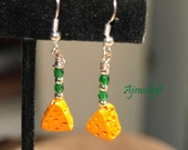 Cheese Head Cheese Wedge Earrings 13098