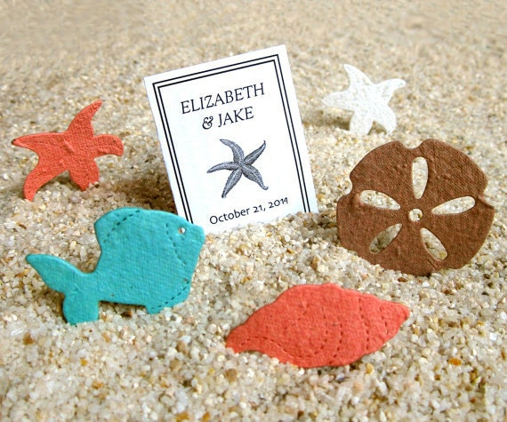 Flower Seed Wedding Favours: Plantable Beach Wedding Favors Flower Seed Confetti Shells