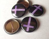 Purple Cross Pin