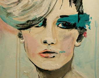 Push - Fashion Painting Portrait Art Print   // 2nd edition