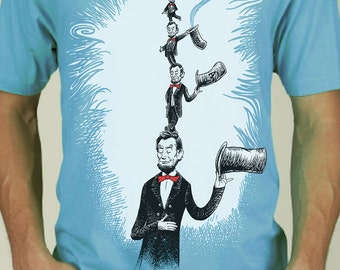 Dr Seuss Shirt Parody - Abe in the Hat - Men's Funny Tshirt - Abraham Lincoln Shirt - Abe Lincoln