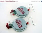 50% off sale Diet Coke Bottlecap Earrings