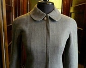 RARE 100% Authentic  Vintage Chanel peter pan collar pencil skirt jacket suit