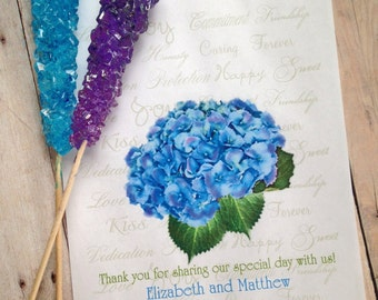 Hydrangea Favor bags, Personalized Candy Bags, Wedding favor bags, Candy Buffet bags, Birthday party, Sweets, Treat bags