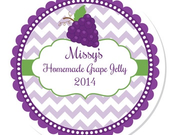 Personalized Labels -- Grape -- Personalized Preserves Labels, Canning Labels, Personalized Labels -- Choice of Size