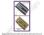 Beadweaving Tutorial Pattern Bracelet Superduo 2-hole Tiles .pdf Instructions for Personal Use