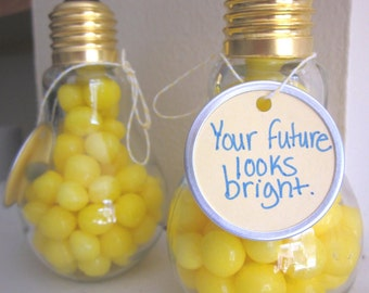 Silly Science Great Idea Einstein Plastic Lightbulb Party Favor EMPTY Containers 3pk