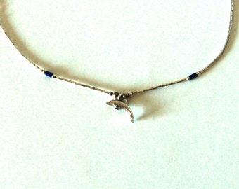 SALE: Sterling Dolphin Necklace