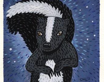 Midnight Skunk Print