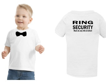 Personalized Ring security shirt Ring Bearer tshirt bowtie tee