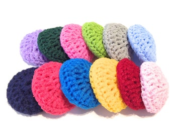 Mystery Lot Of Twenty-Four Crocheted Nylon Netting Dish Scrubbies