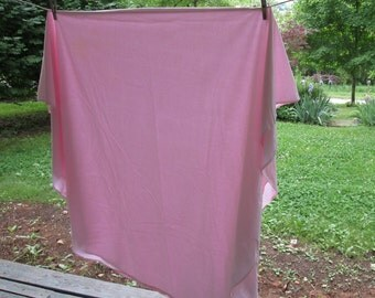 Vintage Oval Tablecloth - Pale Pink Cotton Muslin - Oval Pink Tablecloth - Cloth For Layering