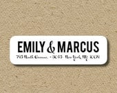 Personalized return address labels, save the date, address labels for moving in together, custom labels with first names, self-adhesive