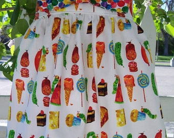 My Carrie Creations Big Bow Dress made with Hungry Caterpillar or Your Choice of Fabric