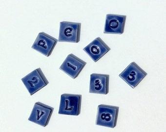 """Mosaic Tile Porcelain Ceramic Letters """"Celtic"""" font Made to Order"""