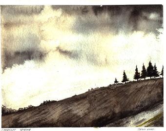 Draco Road-- 6/4/14   Original Watercolor Painting