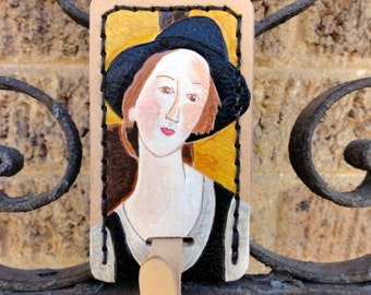 Luggage Tag with Modigliani Replica