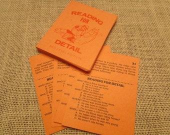Vintage Reading for Details Flash Cards- Set of 10