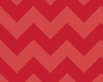 Large Red on Red Chevron by the YARD - by Riley Blake Designs