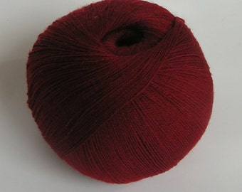 yarn CASHMERE lace laceweight SCARLETT MOTHER Red Valentine 50 grams approx 500 yards Cassie knitting 100 percent cashmere indulge