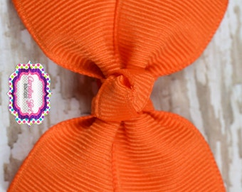 Orange Hair Bow 2.5 Inch Pinwheel Boutique Bow for Babies Toddlers Girls Hair Bows