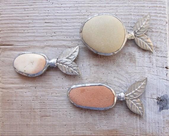 Orange Pebble Fish Magnet - Pick Your Favorite