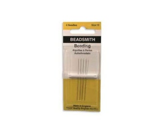 BeadSmith John James English Beading Needles Size 13