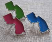 The Original New Jersey State Pride Pin, made by DAMetals using lead free pewter and industrial enamel