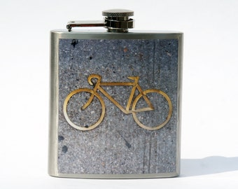 HIP FLASK - Bike Flask- 6oz
