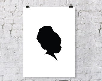 Custom Child or Adult Silhouette Print