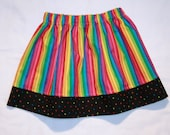 Girls Rainbow and Hearts Skirt - CUSTOM sizes 12 months to size 8