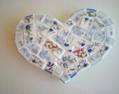 Heart Shaped China Mosaic