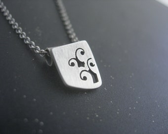 Women's Sterling Silver Handcut Sprout Necklace. Designs from the summer fashion line. Sprouts in Love.