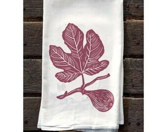 KTF1: Fig on Branch Flour Sack Kitchen Towel