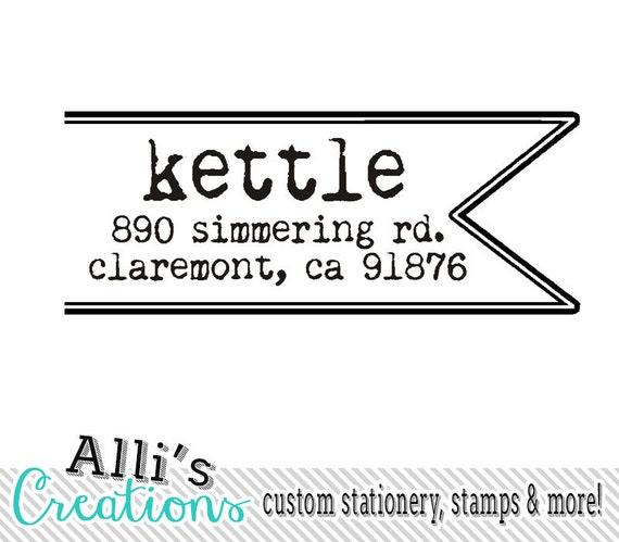 Custom Ribbon Return Address Self Inking Stamp Envelopes Edge