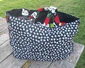 Skulls Reusable Grocery Bag Tote Bag Ready to Ship
