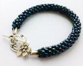 Blue Iris Kumihimo Bracelet
