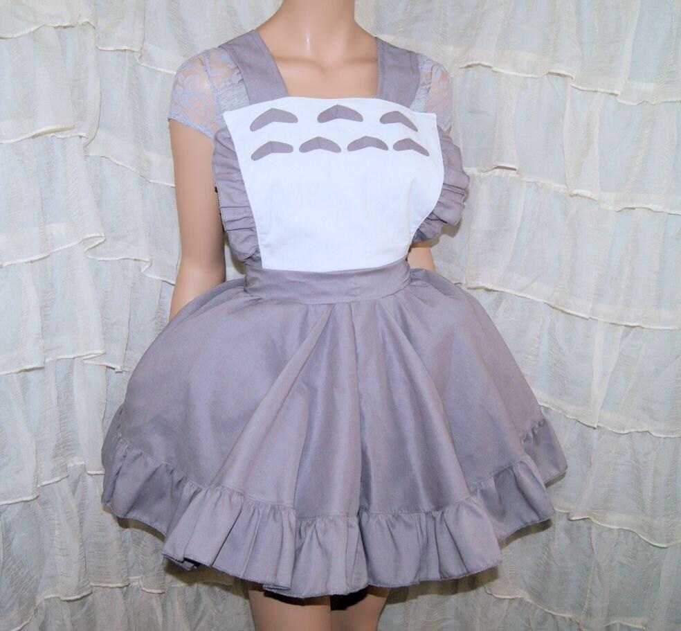 White pinafore apron costume -  Zoom