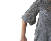Gray Crochet Sweater by Afra