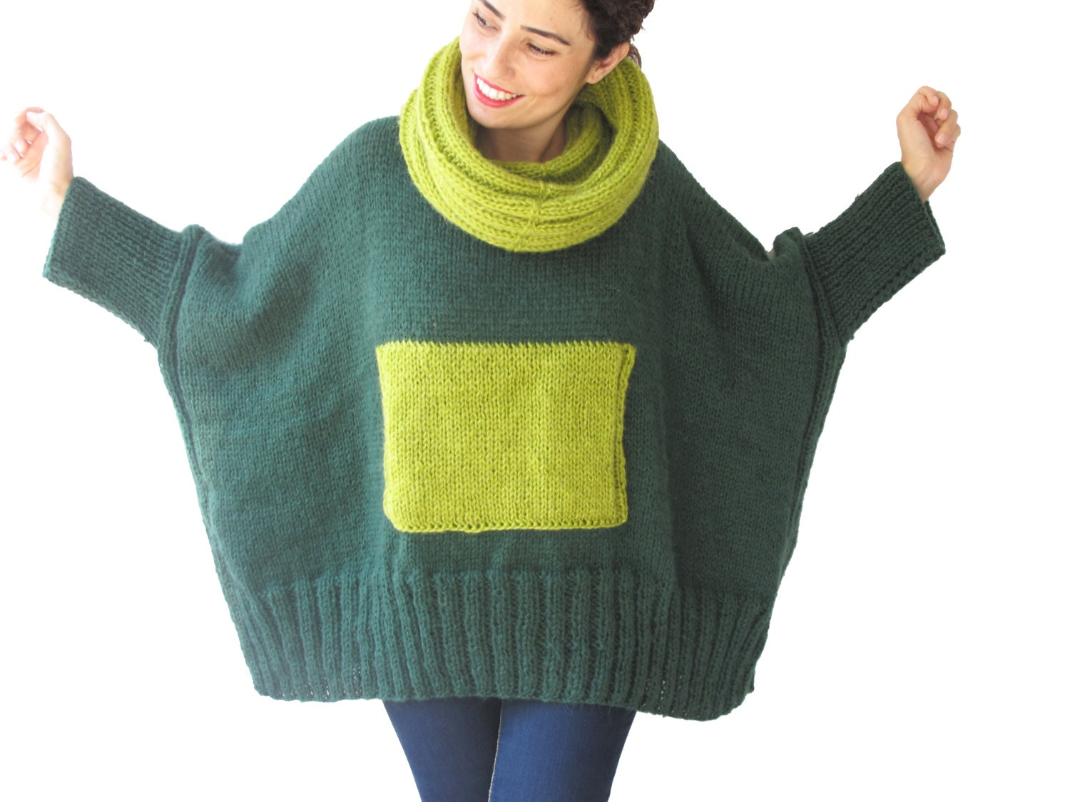 Green Handknit Sweater 65