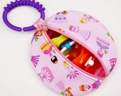 Pacifier Case Pink Princess Binky Pouch Paci Pod Pacifier Holder