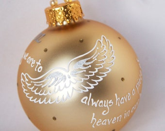 Angel Wings / In Memory Ornament, hand painted and personalized