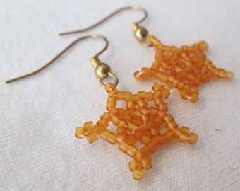 Amber Lucky Star Earrings