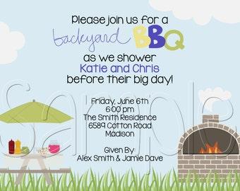 Custom Printable Backyard BBQ Party Invitation