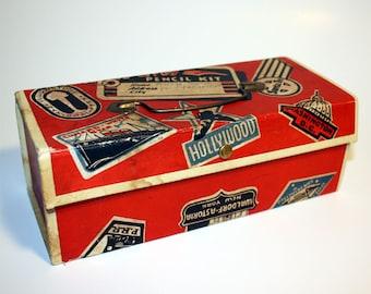 1940s School Pencil Box, Travel Luggage Design