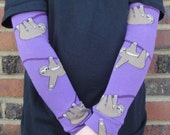 SLOTH Leg Warmers in Purple - Arm Warmers/Leggings for Infant, Toddler, Kid and Tween - Gift for Boy or Girl - Fun and Functional Fashion