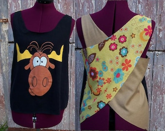 Size XS Bullwinkle Upcycled Tank Top DIY