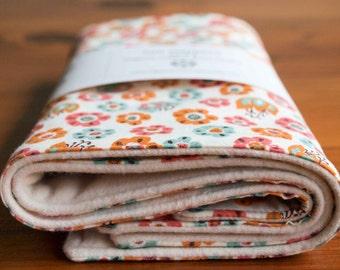 Floral Burp Cloths; Modern Burping Pads; Organic Cotton Baby Girl Gift; Handmade Newborn Baby Essentials; Gift for Nursing Mom; Tulip Toss