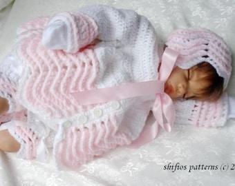 CROCHET PATTERN For Baby Jacket, Pants, Bonnet, Booties Crochet Pattern PDF 93 Digital Download