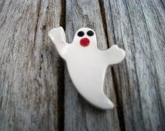 Ceramic Halloween Ghost Pendant